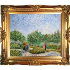 Couples in the Voyer d Argenson Park at Asnierse by Van Gogh Framed Hand Painted Oil on Canvas