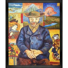 Portrait of Pere Tanguy by Van Gogh Framed Hand Painted Oil on Canvas