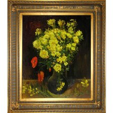Vase with Viscaria (Poppy Flowers) by Van Gogh Framed Hand Painted Oil on Canvas