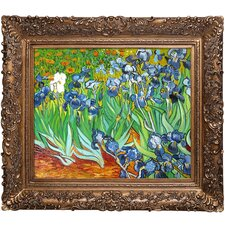Irises by Van Gogh Framed Hand Painted Oil on Canvas