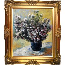 Vase of Flowers by Monet Framed Hand Painted Oil on Canvas