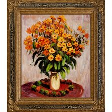 Jerusalem Artichokes by Monet Framed Hand Painted Oil on Canvas