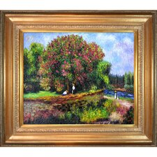 Bluhender Kastanienbaum by Renoir Framed Hand Painted Oil on Canvas