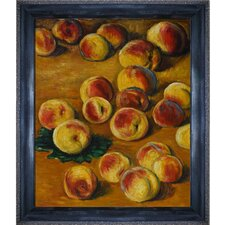 Peaches by Monet Framed Hand Painted Oil on Canvas