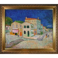 Vincent's House in Arles (The Yellow House) by Van Gogh Framed Hand Painted Oil on Canvas