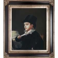 Portrait of Mariano Francisco Goya Framed Hand Painted Oil on Canvas