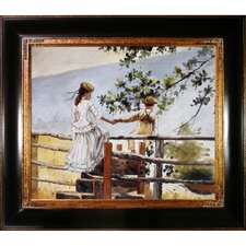 On the Stile by Winslow Homer Framed Hand Painted Oil on Canvas