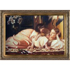 Mother and Child by Leighton Framed Hand Painted Oil on Canvas