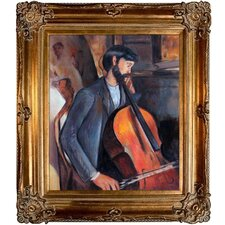The Cellist by Modigliani Framed Hand Painted Oil on Canvas
