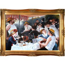 Luncheon of The Boating Party by Renoir Framed Hand Painted Oil on Canvas