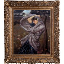 Boreas by John William Waterhouse Framed Hand Painted Oil on Canvas
