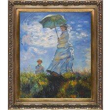 Madame Monet and Her Son by Monet Framed Hand Painted Oil on Canvas