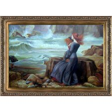 Miranda The Tempest by John William Waterhouse Framed Hand Painted Oil on Canvas
