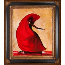 Flamenco by Justyna Kopania Framed Hand Painted Oil on Canvas