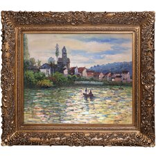 The Seine at Vetheuil by Monet Framed Hand Painted Oil on Canvas