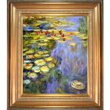 Water Lilies by Monet Framed Hand Painted Oil on Canvas