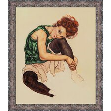 The Artist's Wife by Schiele Framed Hand Painted Oil on Canvas