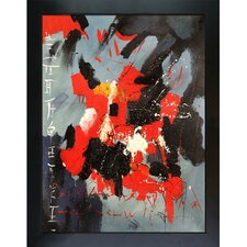 Abstract by Pol Ledent Framed Hand Painted Oil on Canvas