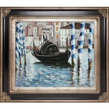 The Grand Canal, Venice II by Manet Framed Hand Painted Oil on Canvas
