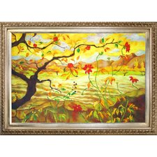 Apple Tree with Red Fruit by Paul-Elie Ranson Framed Hand Painted Oil on Canvas
