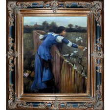 The Flower Picker by John William Waterhouse Framed Hand Painted Oil on Canvas