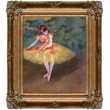 Dancer Making Points by Degas Framed Hand Painted Oil on Canvas