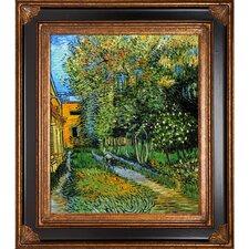 Asylum and Garden Framed Hand Painted Oil on Canvas