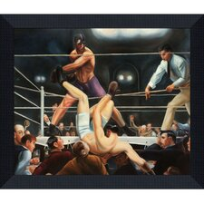 Bellows by Dempsey and Firpo Framed Hand Painted Oil on Canvas
