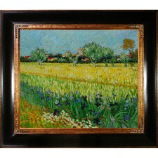 View of Arles with Irises by Van Gogh Framed Hand Painted Oil on Canvas