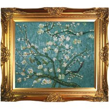 Branches of an Almond Tree in Blossom Hand by Van Gogh Framed Painted Oil on Canvas