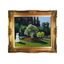 <strong>Tori Home</strong> Monet Jeanne Marguerite Lecadre (Lady in a Garden) Hand Painted Oil on Canvas Wall Art