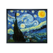 Van Gogh Starry Night Hand Painted Oil on Canvas Wall Art