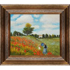 Poppy Field in Argenteuil by Monet Framed Original Painting