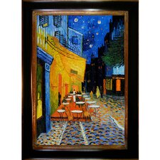 Cafe Terrace at Night Hand by Van Gogh Painted Oil on Canvas