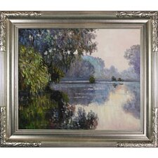 Morning on the Seine near Giverny Monet Framed Original Painting