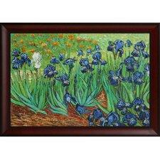 Irises by Van Gogh Framed Original Painting