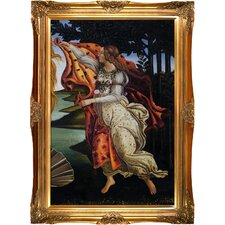 Birth of Venus (right panel) Botticelli Framed Original Painting