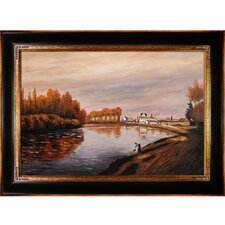 Monet The Seine at Argenteuil Hand Painted Oil on Canvas Wall Art