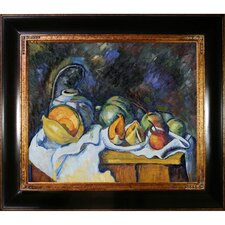 Cezanne Still Life with Melons and Apples Canvas Art