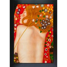 Sea Serpents IV (modest) Klimt Framed Original Painting
