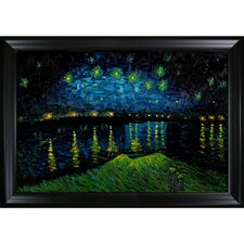 Starry Night Over the Rhone by Van Gogh Framed Hand Painted Oil on Canvas