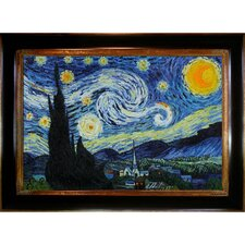 Starry Night by Van Gogh Framed Hand Painted Oil on Canvas