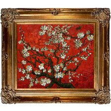 Branches of an Almond Tree in Blossom Canvas Art
