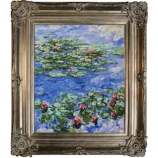 <strong>Tori Home</strong> Monet Water Lilies Hand Painted Oil on Canvas Wall Art