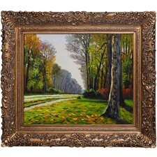 The Road to Bas-Breau, Fontainebleau by Monet Framed Hand Painted Oil on Canvas
