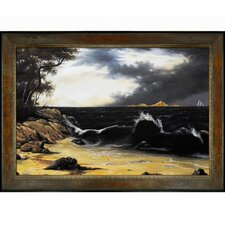 Heade Storm Clouds Over The Coast Canvas Art