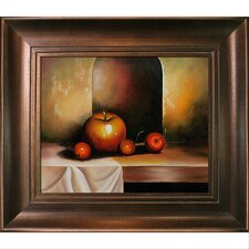 Apples On A Sideboard Canvas Art