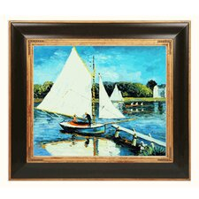 Monet Sailing at Argenteuil Canvas Art