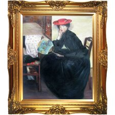 Model with a Japanese Fan by Alfred Henry Maurer Framed Hand Painted Oil on Canvas