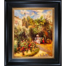 The Garden at Pontoise by Jacob-Abraham-Camille Pissarro Framed Hand Painted Oil on Canvas